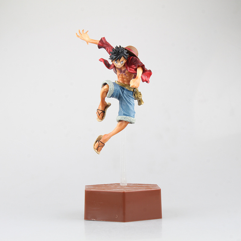 J Ghee Anime <font><b>One</b></font> <font><b>Piece</b></font> <font><b>ichiban</b></font> <font><b>KUJI</b></font> Luffy flighting ver. PVC Figure Collection Toy image