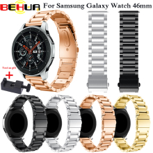 22mm Watch Strap Stainless Steel For Samsung Galaxy Watch 46mm Metal Watchband For Samsung Gear S3 Classic Frontier Watch band new stainless steel watch band wrist strap 22mm for samsung galaxy watch 46mm smart accessories for samsung gear s3 frontier