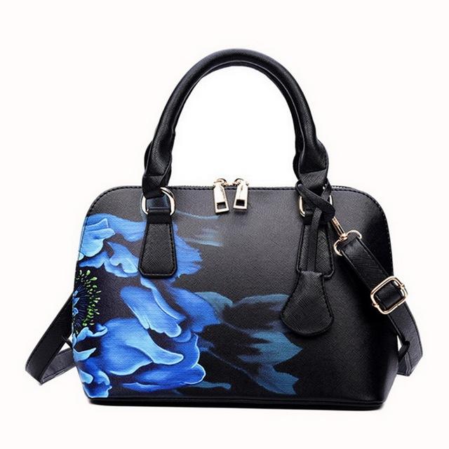 WENYUJH Handbags Flowers Shoulder 2019 Designer Bags Famous Women Shopper Bag Shell Elegant Floral Shoulder Luxury Handbags #N