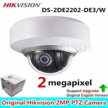 Английская Версия МИНИ-Купольная PTZ DS-2DE2202-DE3/W Сеть МИНИ Купольная Камера 2.0 мегапиксельной POE, Ip-камера