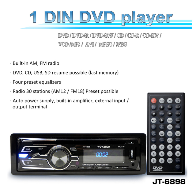 Wowauto 1 din car cd dvd player mp3fm built in amplifier am audio wowauto 1 din car cd dvd player mp3fm built in amplifier am audio publicscrutiny Images