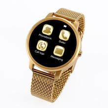 2015 New Fashion Wireless Bluetooth Touch Screen Smart Watch V360 Round Style WristWatch for iPhone Samsung Android Smartphone