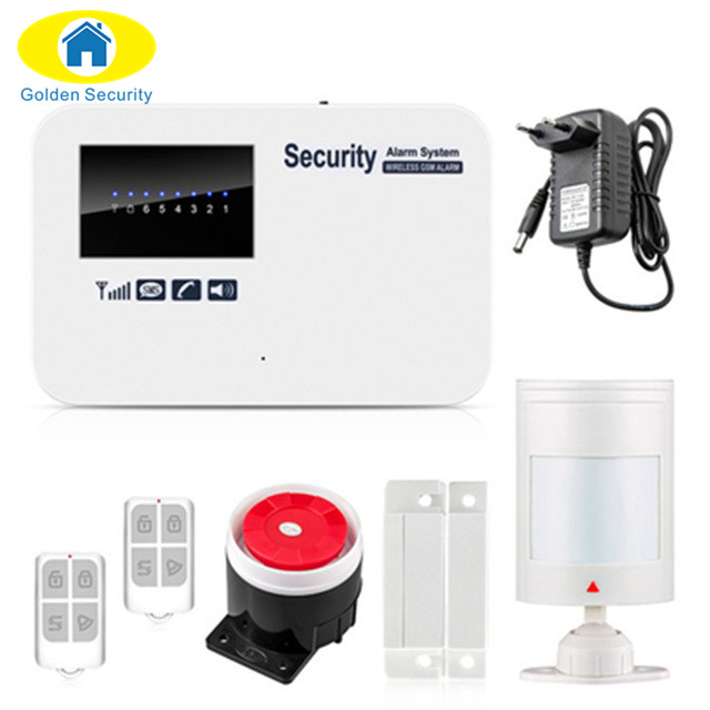 Golden Security Wireless GSM Home Alarm System SMS Autodial House Home Security System Intruder Alarm Russian/English Voice автомобильное зарядное устройство interstep samsung s20 pin black