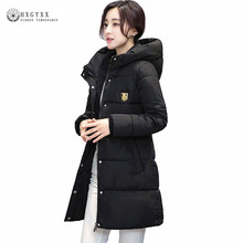 Women Winter Coat 2018 Army Green Quilted Jacket Thick Warm Hooded Jackets Down Cotton Padded Parka