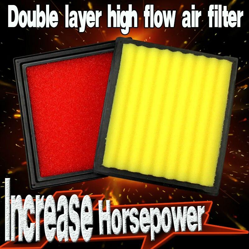 2pcs high flow air filter fit NISSAN 370Z 3 7 2009 2018 match kn 33 2399