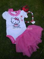Baby Clothing Cute Baby Girl Outfits Summer Dress Newborn Ropa Baby Set Baby Hello Kitty Dress