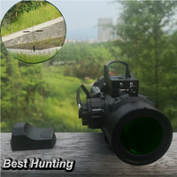 Tactical Riflescope Quick Detachable 1X 4X Dual Purpose Scope with Mini Red Dot Scope for Outdoor Hunting