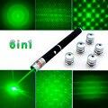 Лазерная указка  6 в 1  5 мВт  650 нм  красный  зеленый  синий цвет  лазерная указка  фонарик + 5 звездочек  луч света  апертура  калейдоскопический