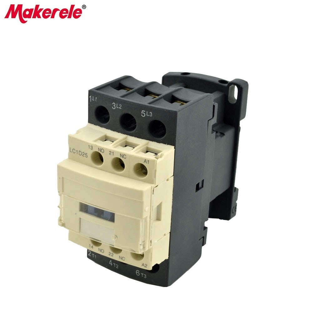 LC1-D25 M7C 3P+NO+NC Telemecanique Ac Contactor 220v Single Phase Contactor Manufactuer Direct Sale Electric Contactor 3p no nc magnetic contactor lc1 9511 m7c contactor telemecanique contactor price ac magnetic contactor 95a 220v coil voltage