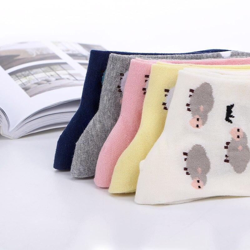 Women socks cotton Harajuku Cute Cartoon Goat Women 39 s Socks Happy Funny socks in Socks from Underwear amp Sleepwears
