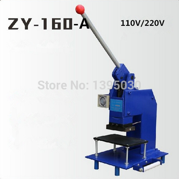 1pc manual hot foil stamping machine manual stamper leather embossing machine Printing area 100*60MM ZY 160 A