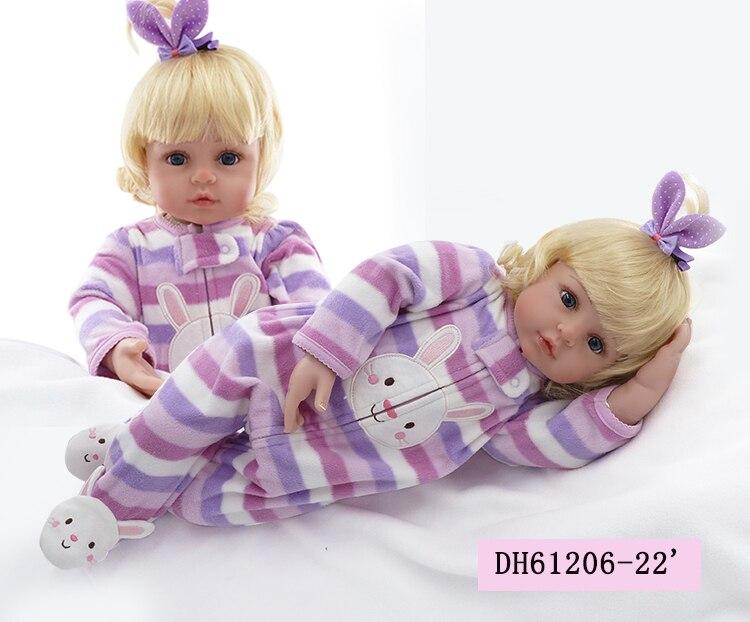 Handmade 55cm Silicone Reborn Baby Dolls Realistic bonecas Reborn Dolls Baby Alive Adorable Dolls For Girls Kids Playmate Toys