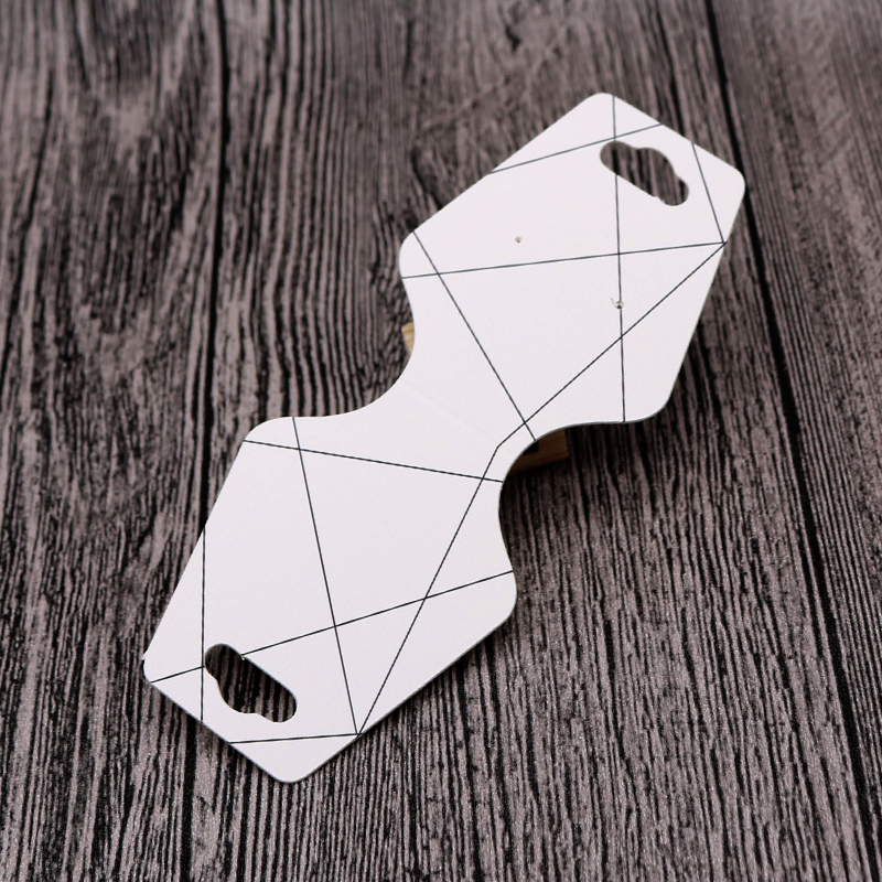 Wholesale 100pcs/lot Paper Necklace Card 4.5x10.8cm Earrings Necklaces Jewelry Display Packaging Cards Cute Jewelry Card Tags