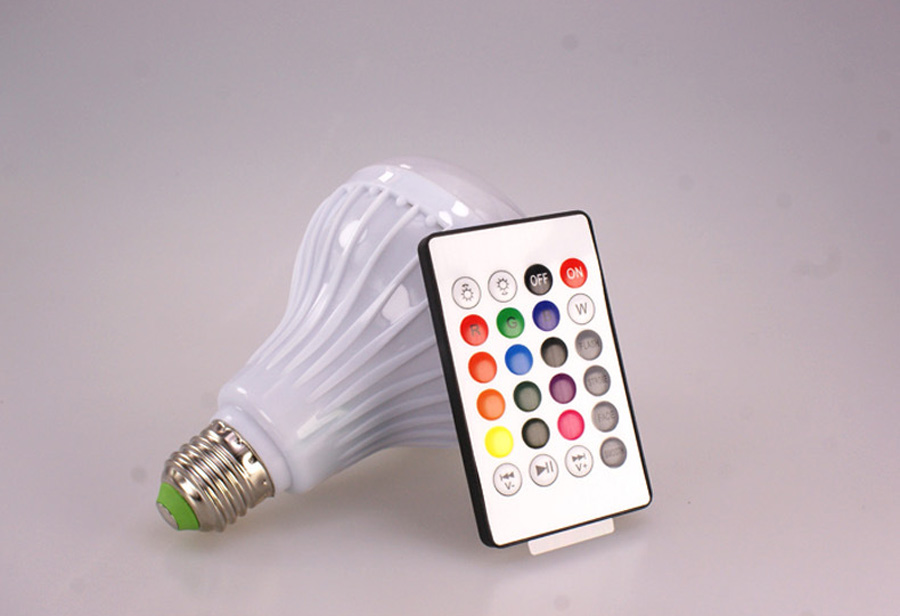 E27 Smart RGB RGBW Wireless Bluetooth Speaker Bulb Music Playing Dimmable LED Bulb Light Lamp with 24 Keys Remote Controller (5)