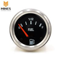 52mm 2inch 12V DC Electrical Mechanical Car Fuel Level Gauge Auto Meter With Fuel Sensor