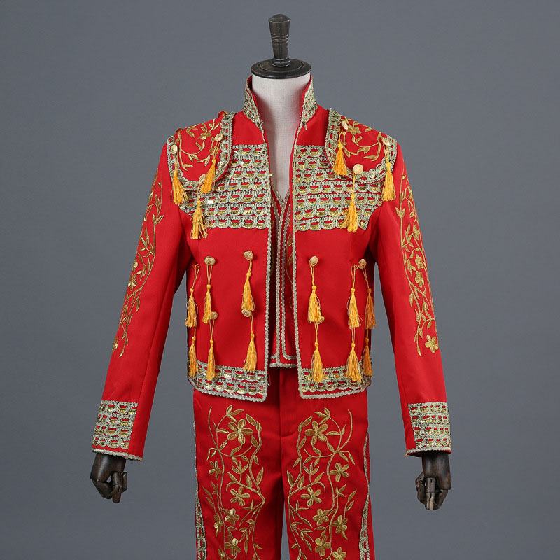 Suits & Blazers Flight Tracker Mens Century Suit Jacket Patriot Historical Gentlemans Suit Gothic Theater Outfit Mens Prince Royal Show Host Men Dress Tuxed Latest Technology Men's Clothing