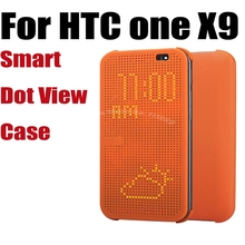 Newest Silicon Case For HTC One X9 Official Best Quality Dot View Call ID Flip Cover For HTC X9 Smart Wake Up Sleep
