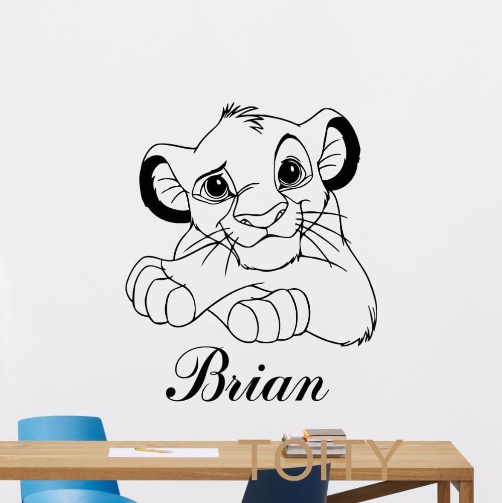 online get cheap cartoon lion names aliexpress com the lion king rafiki height chart wall stickers wall