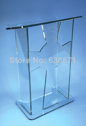 Free Shiping Cheap Custom Clear Floor Standing Acrylic Lectern/acrylic Podium/acrylic Pulpit
