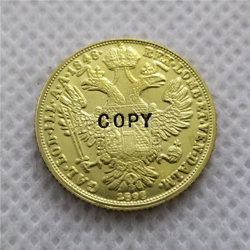 Копия псевдо А (1848) Австрия-Habsburg 1 Дукат-Франц Иосиф I (золотой юбилей) копия монет бесплатная доставка