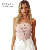 Normov S L Velvet Cropped Tank Tops Summer Zipper Bustier Crop Party Tops Tank Sexy Ladies