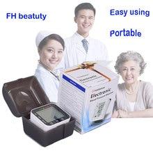การดูแลสุขภาพอัตโนมัติข้อมือวัดความดันโลหิต + กรณีดิจิตอลจอแอลซีดีข้อมือข้อมือวัดความดันโลหิต Esfingomanometro Tonometer