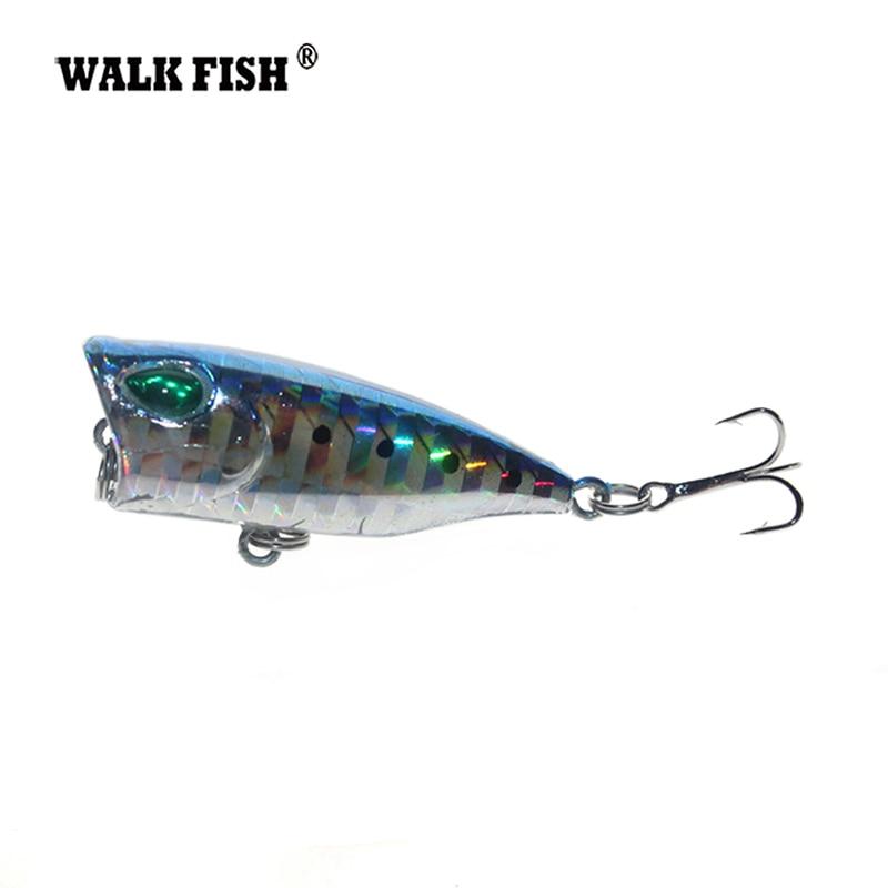 Walk Fish 1Pcs 3cm 4g Mini Popper Fishing lure Model Hard Bait 7 colors 12# Hook Popper Floating Top Water Baits 3cm 2g mini top water crank hard lure