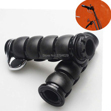 Free Shipping font b Motorbike b font Motorcycle Black 1 25mm Handlebar Hand Grips Fit for