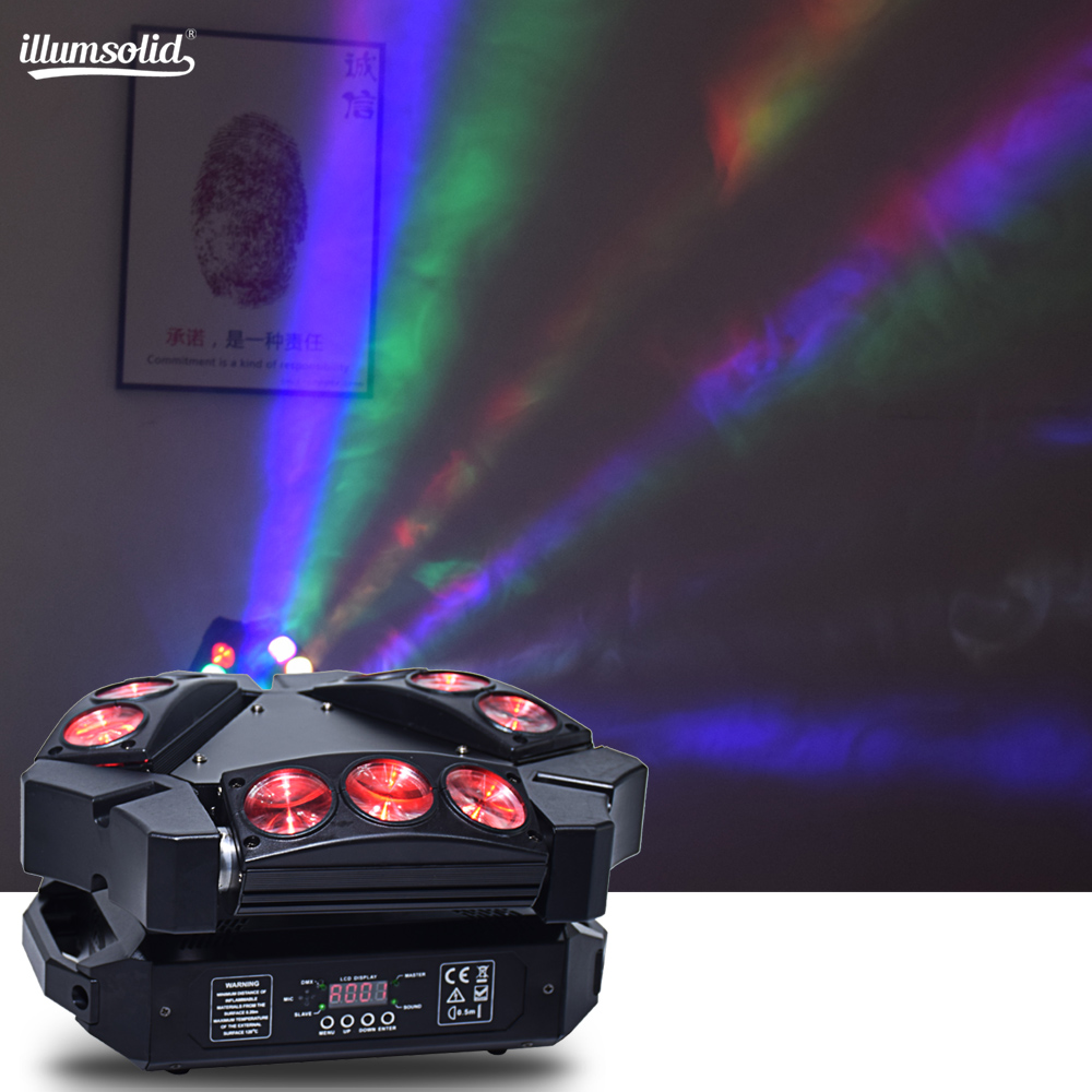 9x12w RGBW 4in1 Spider Colorful LED Beam Moving Head Light For Party Dj Disco Lamp