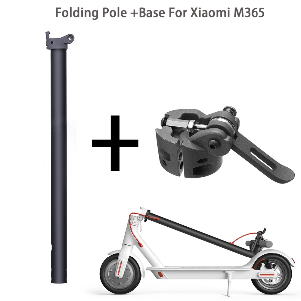 Folding Pole Stand Rod And Base Replacement Spare Parts For Xiaomi M365 Electric Scooter Skate Board Cycling Scooter Accessories