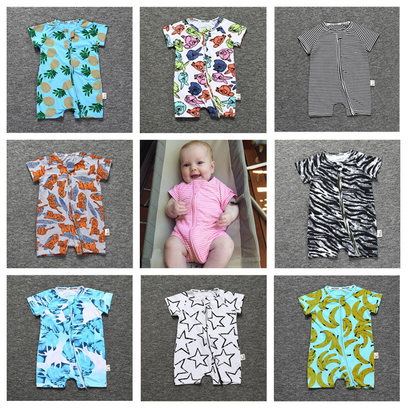 Baby Rompers Summer Baby Boy Clothes Cotton Baby Girl Clothes Short Sleeve Newborn Baby Clothes Infant Jumpsuits Roupas Bebe newborn baby rompers high quality natural cotton infant boy girl thicken outfit clothing ropa bebe recien nacido baby clothes