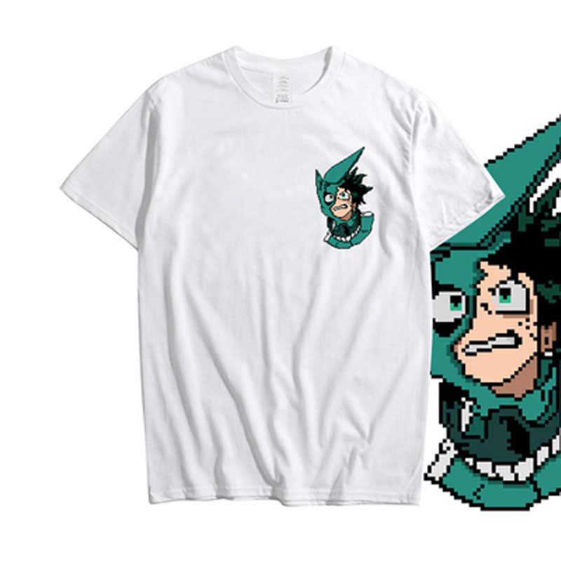 Boku Cosroad Nenhum Herói Academia Midoriya Izuku Um para Todos Os T Shirt Dos Homens do Algodão Camisetas de Verão