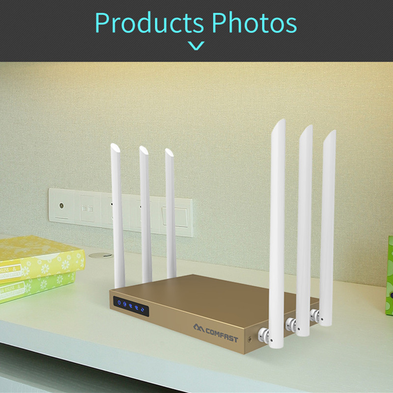 COMFAST high power wi fi router 750Mbps 5.8Ghz Dual Band 802.11ac wireless wifi router r ...