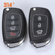 3/4 buttons Black Smart Car Key Remote Control Replacement Shell Suit For HYUDNA MISTRA IX25IX35 Elantra Santafe