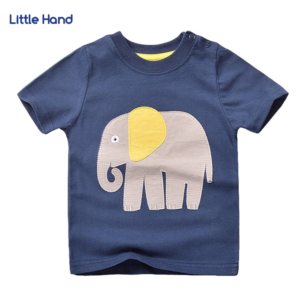 Kids Boys Cotton Tshirt Cartoon Elephant 3D Print Short Sleeve T-shirt Children Casual Tee Tops Clothes Kids T Shirts