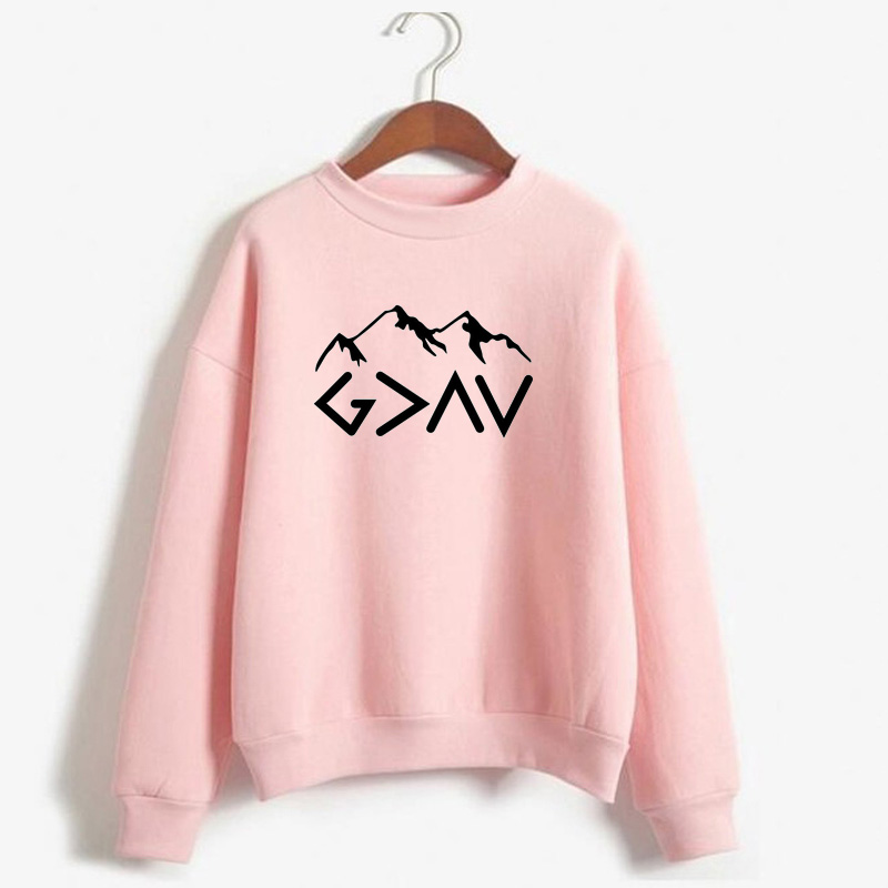 God Is Greater Than My Highs And Lows Hoodie God Is Greater Hoodie Faith Hoodie Inspirational Mountains Hoodie Clothing