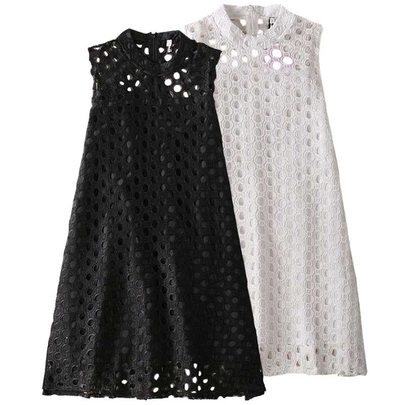2017 New Girls Summer Evening Dress Children Hollow Out Lace Princess Dress Baby Girl O-Neck Party Dresses Kids Fashion Clothes ladybird appliques dress wholesale clothing for girls princess baby boutique o neck clothes children polka dot dresses 6pcs lot