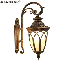 European Outdoor Vintage Wall Lamp Waterproof LED Porch Lights Sconce Aluminum Garden Balcony Aisle Lamps Decor Lighting