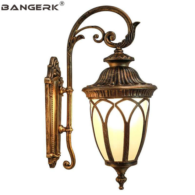 Us 213 67 24 Off European Outdoor Vintage Wall Lamp Waterproof Led Porch Lights Sconce Aluminum Garden Balcony Aisle Lamps Decor Lighting In