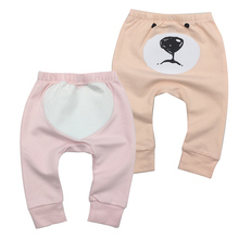 2Pieces/lot Baby Clothes Pants Cartoon Toddler Boy Girl Leggings Full Length Elastic Waist Kids Pant Trousers