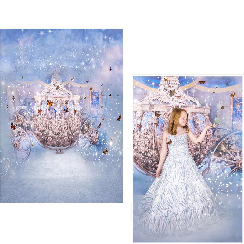DAWNKNOW Fotografické pozadí pro děti Polyester Pozadí Princezna Pohádka pro děti Fotografické studio CM6708