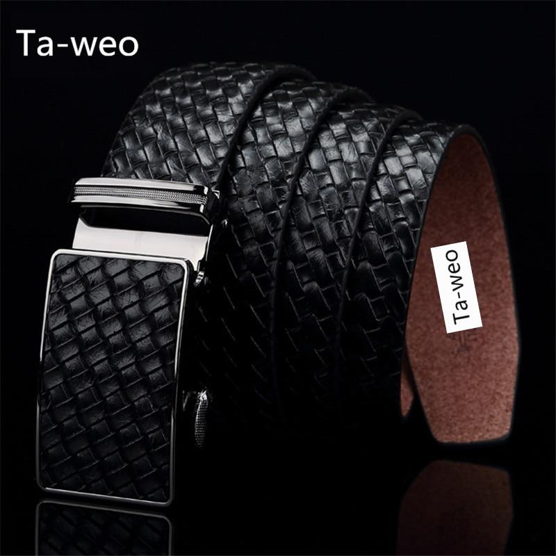 Fashion Genuine Leather Cowhide Automatic Buckle Belt Designer Belts Men High Quality Ceinture Homme Luxury Jeans Waistband