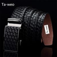 Fashion Genuine Leather Cowhide Automatic Buckle Belt Designer Belts Men High Quality Ceinture Homme Luxury Jeans