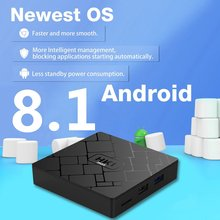 Professional Small Size 4+32GB Smart TV Box RK3328 Quad Core 4K TF Cards Multi-Media Player for Android 8.1 Black