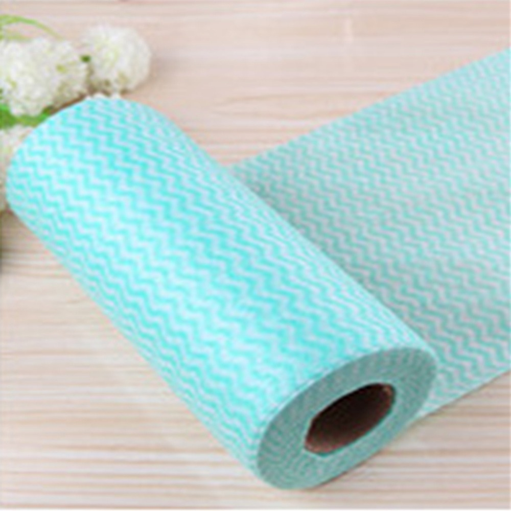 1 Roll Kitchen Disposable Non woven Fabrics Washing Cloth Towels ...