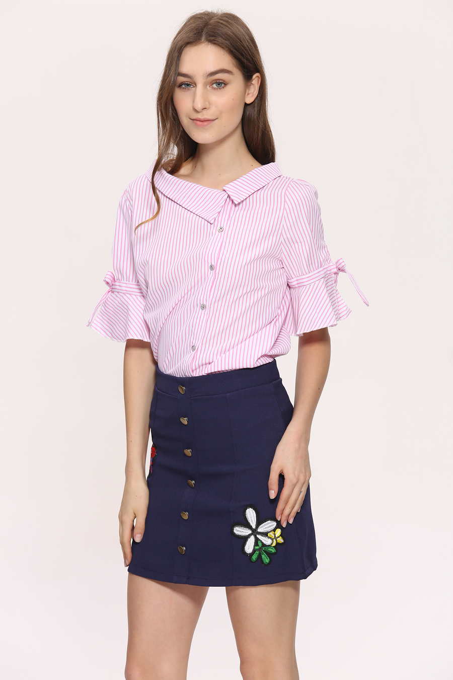 23d346750 Novelty Blouses Shirts Women Striped Blouses 2018 New Stylish Sailor ...