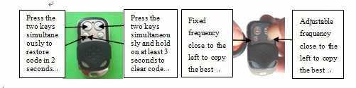 العالمي لاسلكية rf الناسخ التحكم عن/استنساخ ثابتة 330 ميجا هرتز تردد لباب المرآب