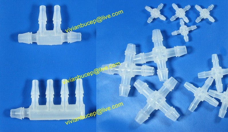 Pcs lot plastic barbed connector way cross
