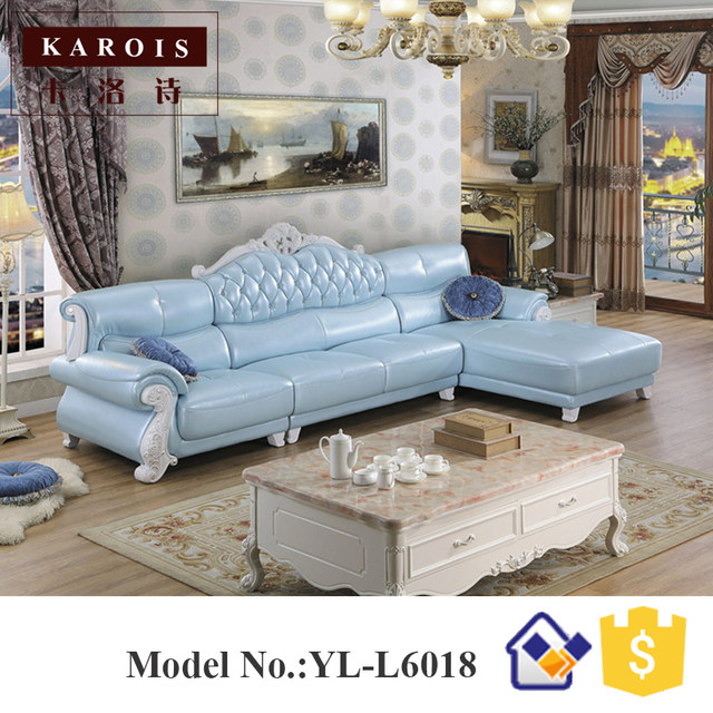 Whole Price Leather Corner Sofa With Chaise L Shaped Furniture White Sofas