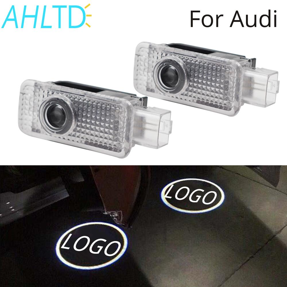 2pcs Welcome Logo Light For Audi A4 A6 5W Door Light Special Welcome Light Projection Lamp Laser Light